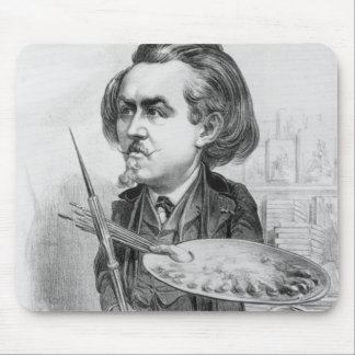 Gustave Dore (1832-83), caricature from 'Le Boulev Mouse Pad