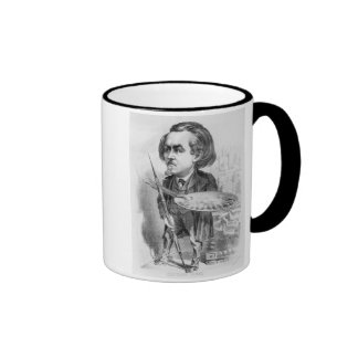 Gustave Dore (1832-83), caricature from 'Le Boulev Coffee Mugs