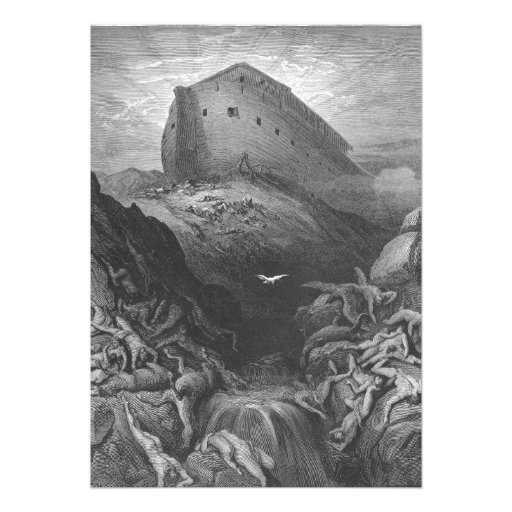 Gustave Doré - A Dove Is Sent Forth from the Ark Custom Invitation