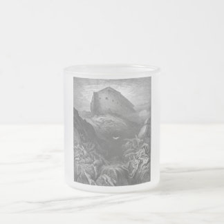 Gustave Doré - A Dove Is Sent Forth from the Ark 10 Oz Frosted Glass Coffee Mug