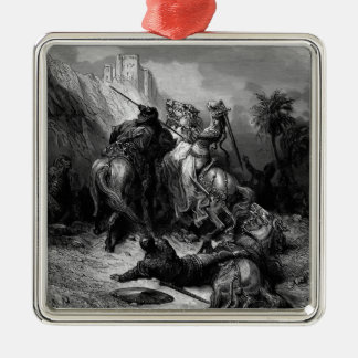 Gustave Dore: A Heroine Florine of Burgundy Square Metal Christmas Ornament