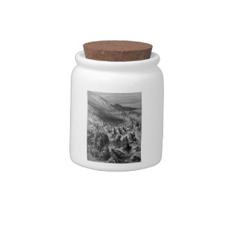 Gustave Dore:Crusaders surrounded by Saladins army Candy Jars