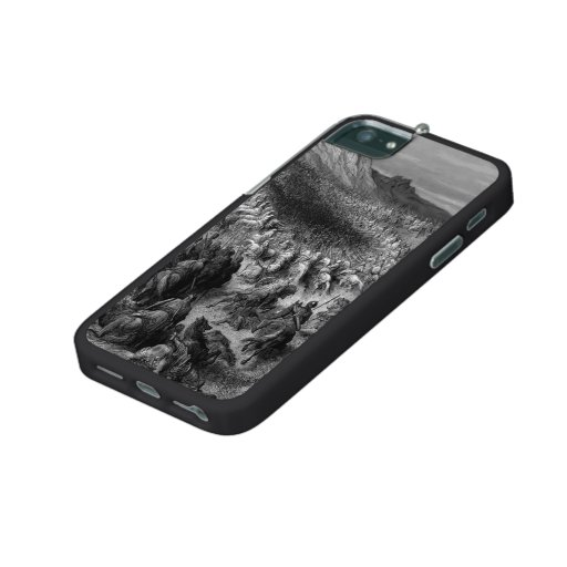 Gustave Dore:Crusaders surrounded by Saladins army iPhone 5 Covers