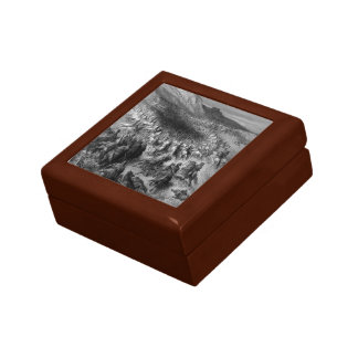 Gustave Dore:Crusaders surrounded by Saladins army Jewelry Box