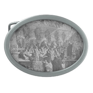 Gustave Dore: Daniel Interpreting the Writing Oval Belt Buckles