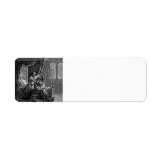 Gustave Dore:Edward I of England kills his wouldbe Custom Return Address Labels