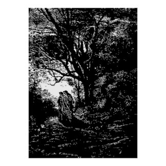 Gustave Dore Engraving Dante and Virgil Poster