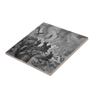 Gustave Dore: Entry of Crusaders in Constantinople Ceramic Tile