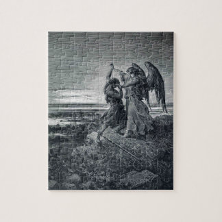 Gustave Dore: Jacob Wrestling with the Angel Jigsaw Puzzle