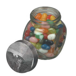 Gustave Dore:'Now Night her Course began..' Glass Candy Jar