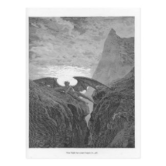Gustave Dore Now Night her Course began Postcards