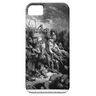 Gustave Dore: Richard I in battle at Arsuf in 1191 iPhone 5 Cover