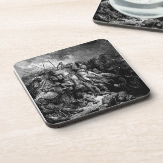 Gustave Dore: Richard I in battle at Arsuf in 1191 Drink Coaster