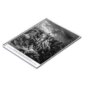 Gustave Dore: Richard I in battle at Arsuf in 1191 Note Book