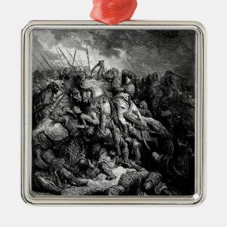 Gustave Dore: Richard I in battle at Arsuf in 1191 Christmas Tree Ornament