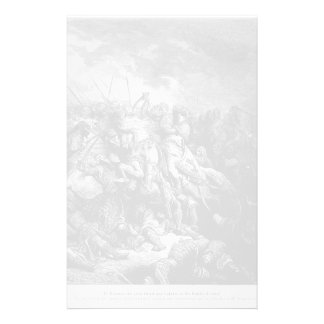 Gustave Dore: Richard I in battle at Arsuf in 1191 Stationery Design