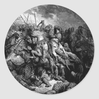 Gustave Dore: Richard I in battle at Arsuf in 1191 Sticker