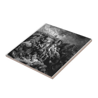 Gustave Dore: Richard I in battle at Arsuf in 1191 Ceramic Tiles