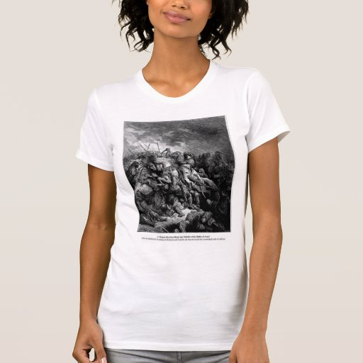 Gustave Dore: Richard I in battle at Arsuf in 1191 Tee Shirts