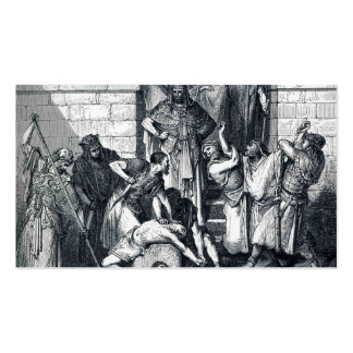 Gustave Dore: Slaughter of the Sons of Zedekiah Double-Sided Standard Business Cards (Pack Of 100)