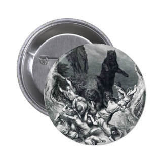 Gustave Dore: The Children Destroyed by Bears Pinback Buttons