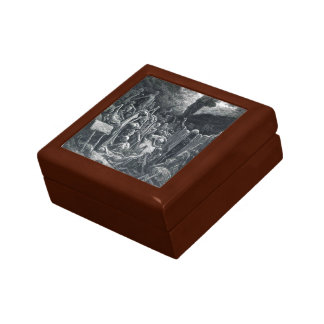 Gustave Dore:The Vision of the Valley of Dry Bones Keepsake Boxes