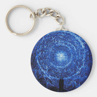 Gustave Dore The White Rose (blue) Key Chain