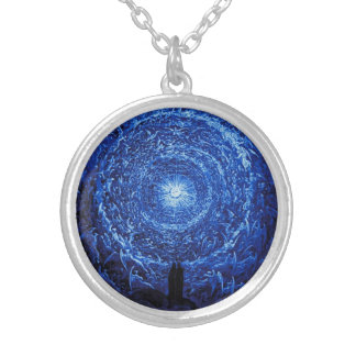 Gustave Dore The White Rose (blue) Necklace