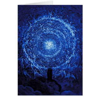 Gustave Dore The White Rose (blue) Note Card