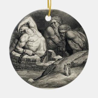 Gustave  Doré's The Titans Ceramic Ornament