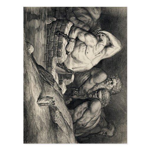 Gustave  Doré's The Titans Postcards