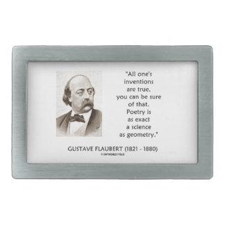 Gustave Flaubert Inventions True Poetry Science Rectangular Belt Buckles