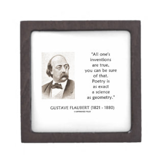 Gustave Flaubert Inventions True Poetry Science Jewelry Box
