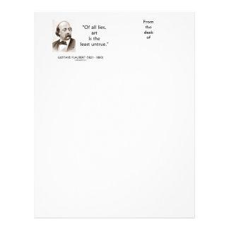 Gustave Flaubert Of All Lies Art Is Least Untrue Letterhead
