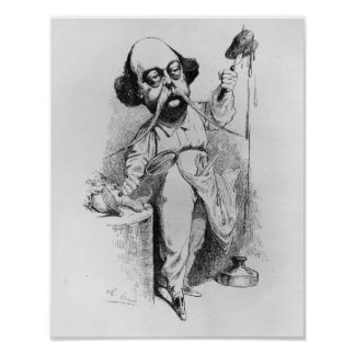 Gustave Flaubert que diseca a señora Bovary Póster
