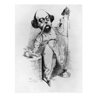 Gustave Flaubert que diseca a señora Bovary Postal