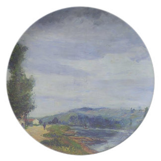 Gustave Loiseau- By the Seine   Stormy Weather Party Plates