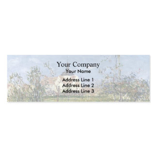 Gustave Loiseau- Church at Notre Dame at Vaudreuil Business Card Template