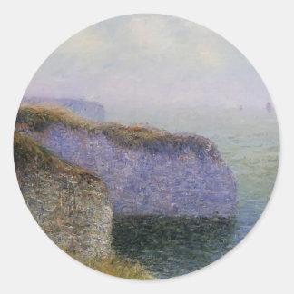 Gustave Loiseau- Cliffs of Etretat Round Sticker