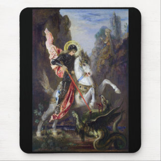 Gustave Moreau and Saint George and the Dragon Mouse Pad