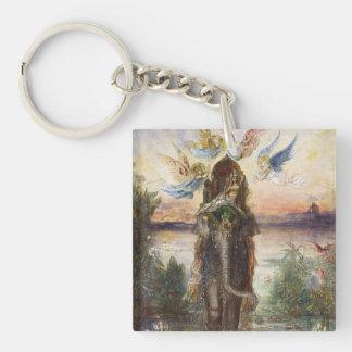 Gustave Moreau Art Single-Sided Square Acrylic Keychain