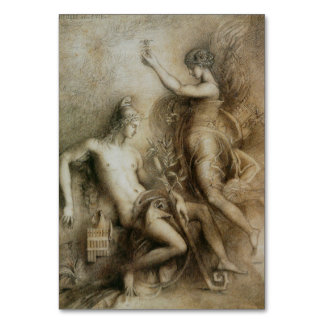 Gustave Moreau Drawing Hesiod and Muse Table Cards