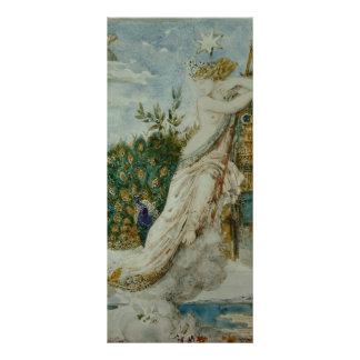 Gustave Moreau: El pavo real que se queja a Juno Tarjeta Publicitaria A Todo Color