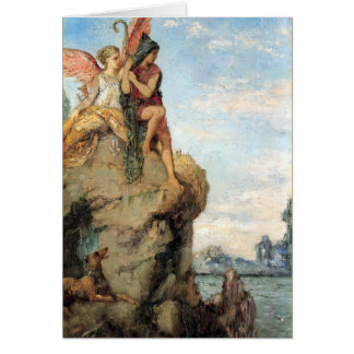 Gustave Moreau- Hesiod and the Muse Greeting Card