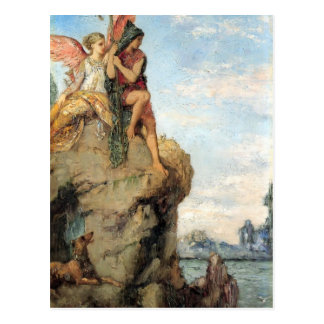 Gustave Moreau- Hesiod and the Muse Postcard