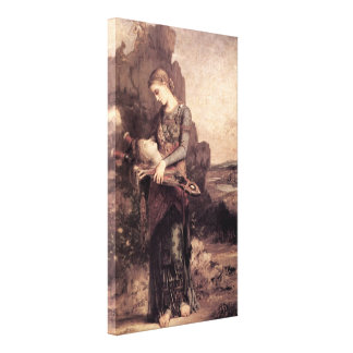 Gustave Moreau - mujer con la cabeza de Orfeo Lona Envuelta Para Galerias