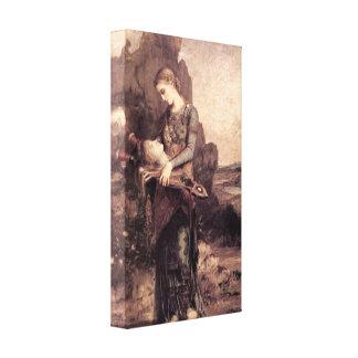 Gustave Moreau - mujer con la cabeza de Orfeo Impresiones En Lona Estiradas