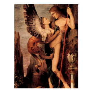 Gustave Moreau - Oedipus and the sphinx Postcard