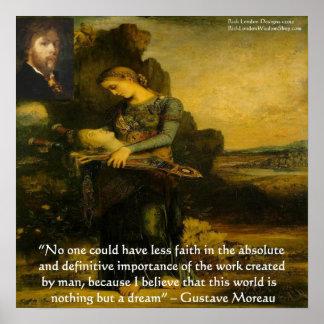 """Gustave Moreau """"Orfeo"""" y poster de la cita"""