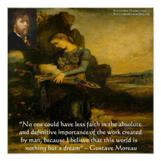 "Gustave Moreau ""Orpheus"" And Quote Poster Posters"